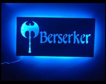 EverQuest Inspired Berserker LED Lit Wall Sign