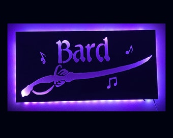 EverQuest Inspired Bard LED Lit Wall Sign