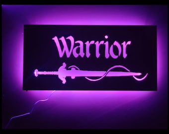 EverQuest Inspired Warrior LED Lit Wall Sign