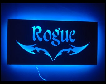 EverQuest Inspired Rogue LED Lit Wall Sign