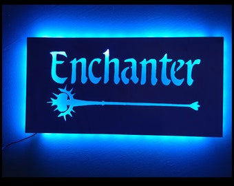 EverQuest Inspired Enchanter LED Lit Wall Sign