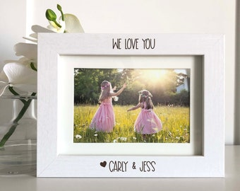 We love you Picture Frame, Custom Names Picture Frame, gift for Grandparents, Custom Gift for Grandparents, Christmas Gift