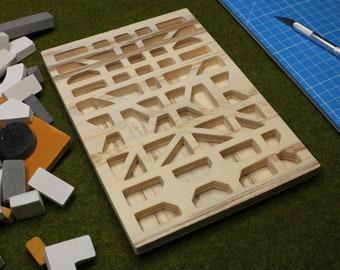 Brick Mold (08) pediment, wood style