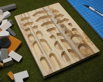 Brick Mold (06) CIRCLES, wood style