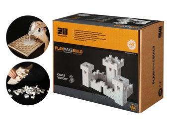 DIY building toy set for kids. gypsum castle constructor activity children sensory education kit for fine motor skills