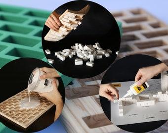 Brick Mold standart mini bricks, wood style