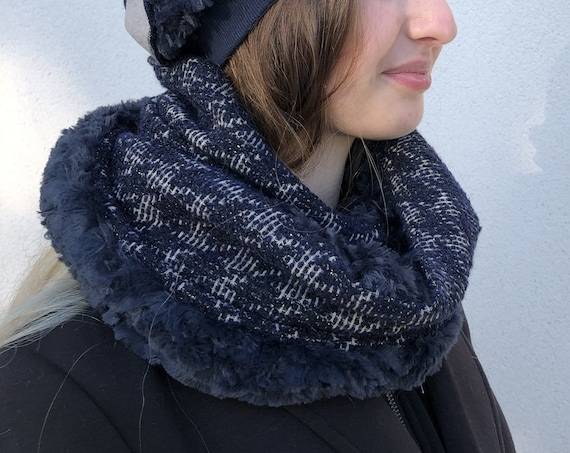 SNOOD WOMAN double collar scarf