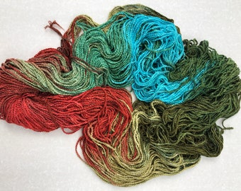 SAN FRANCISCO - #450 in the Urban yarns line of multi-colored rayon chain yarns that are excellent for knitting, crochet, accessorizing,