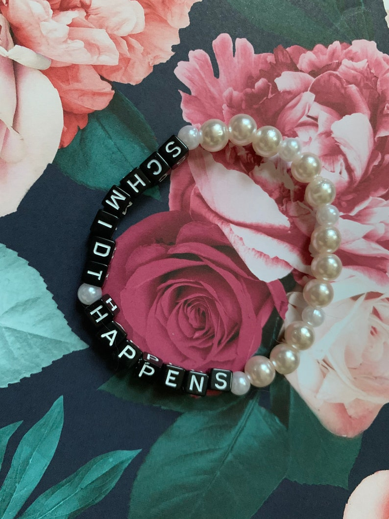 Schmidt Quotes Schmidt Happens New Girl Bracelet Small Jewelry Gifts for Women Christmas Gifts for Women Stretch Bracelet