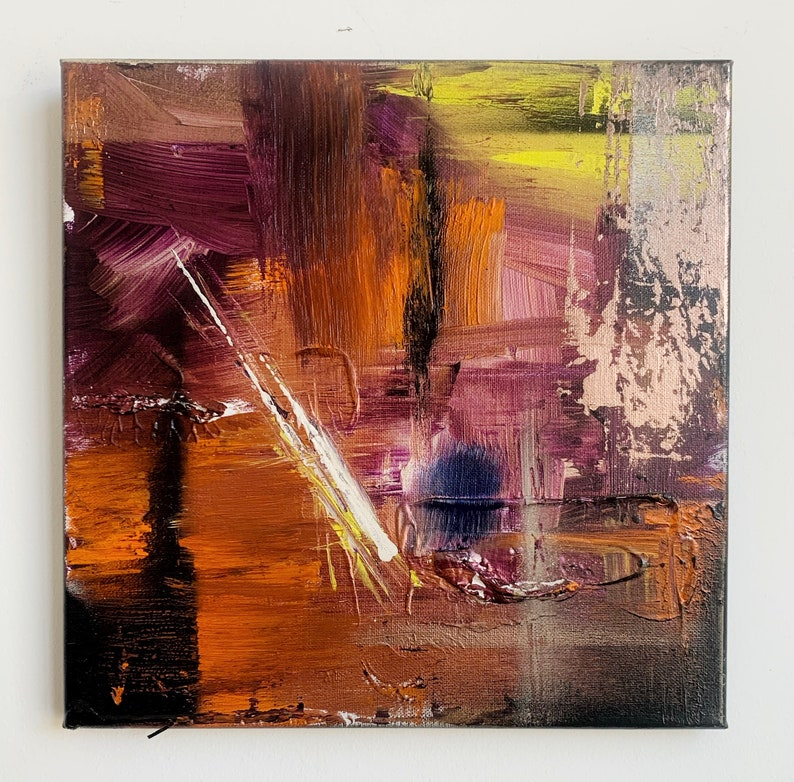 Original Local Abstract Painting Ones Own Wrong Doings