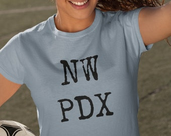 NW PDX Short-Sleeved Cotton T-Shirt for cool cats only. Like, Seriously.