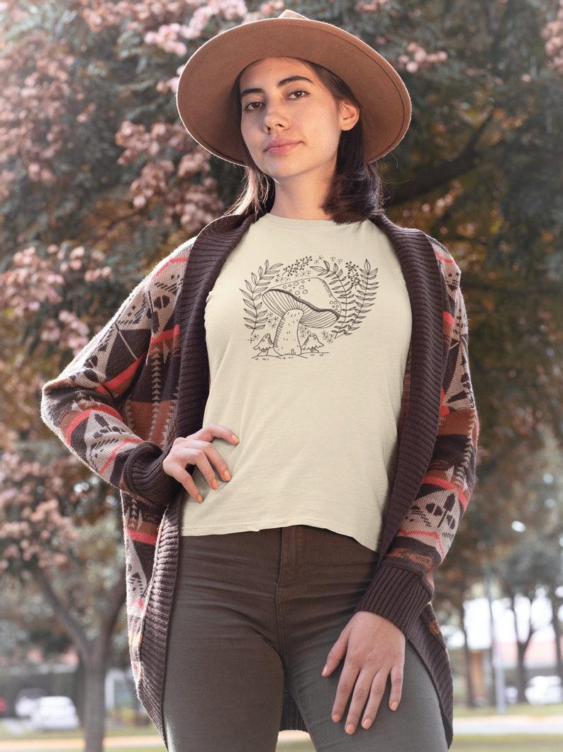 Mushroom T-Shirt Cottagecore T-Shirt Mushrooms Shirt image 0