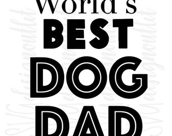 Dog Dad Svg Etsy