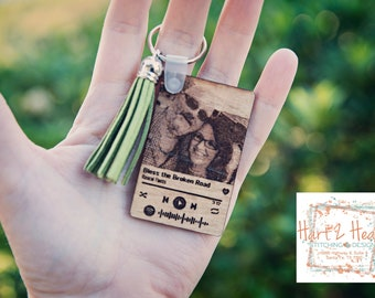 Spotify Keychain Music Couple's Song Gift for Him | Gift for Her | Our Song | Wood Engraved Plaque | Wedding Gift | Couple Spotify Code