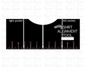 T-Shirt Alignment Guide with Pocket | Digital Download | T-Shirt Placement | Vinyl Placement | Silhouette | Cricut | SVG
