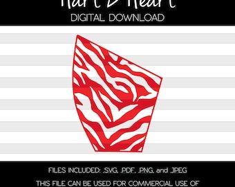 Zebra Print Sleeve Stencil | Digital Download | Bleach Placement | Silhouette | Svg | Bleach Template | Animal Print | Pattern