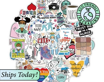 Nurse stickers bundles, Random, 5 pc, 10Pc sticker pack, 20pc, 30pc, cute stickers, sets, gift for nurses, Medical, nurse practitioner