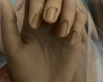 realistic nail practice hand