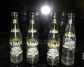 4 vintage Nugrape soda bottles