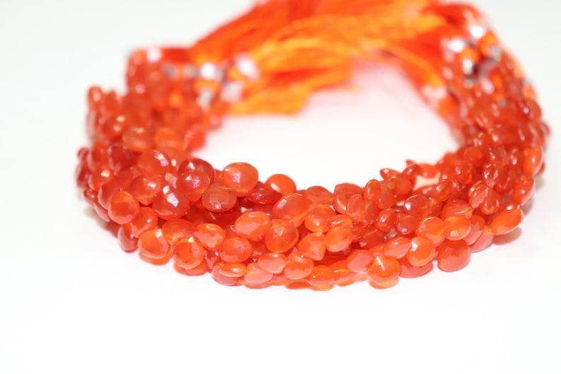 On Sale  Carnelian Faceted Heart Shape Beads Carnelian Heart bead Carnelian Side Cut Heart  Wholesale Beads Carnelian Briolette