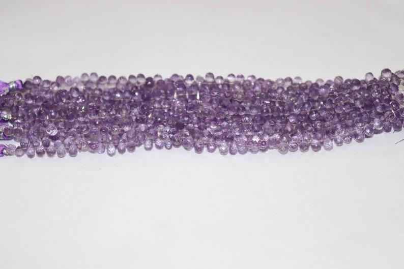 Excellent Brazil Amethyst Faceted Drops Shape Beads   Brazil Amethyst Briolette   Amethyst Drops bead   Amethyst Side Cut Drops Wholesale