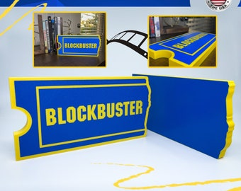 Vintage Blockbuster Video Promotion Sign Original Authentic 24 Inches Blu Ray