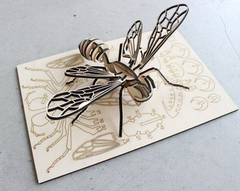 Bee Embellishments DIY 3D Bee Cutouts Blank Laser Cut Bees Unfinished Blank Bee Cutouts