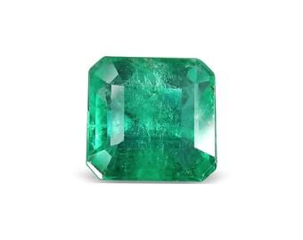 1.25-Carat Transparent-Clarity Dark Green Zambia Emerald