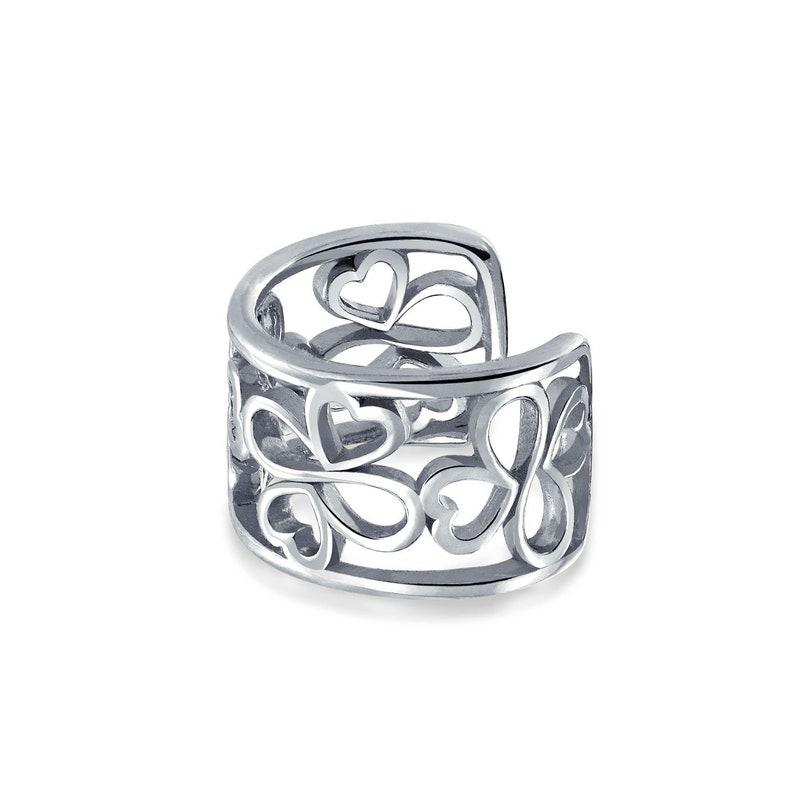 Ayllu Inspirational Symbol Cartilage Ear Cuffs Clip Wrap Helix Lobe Earrings 14K Gold Plated Sterling Silver Non Pierced