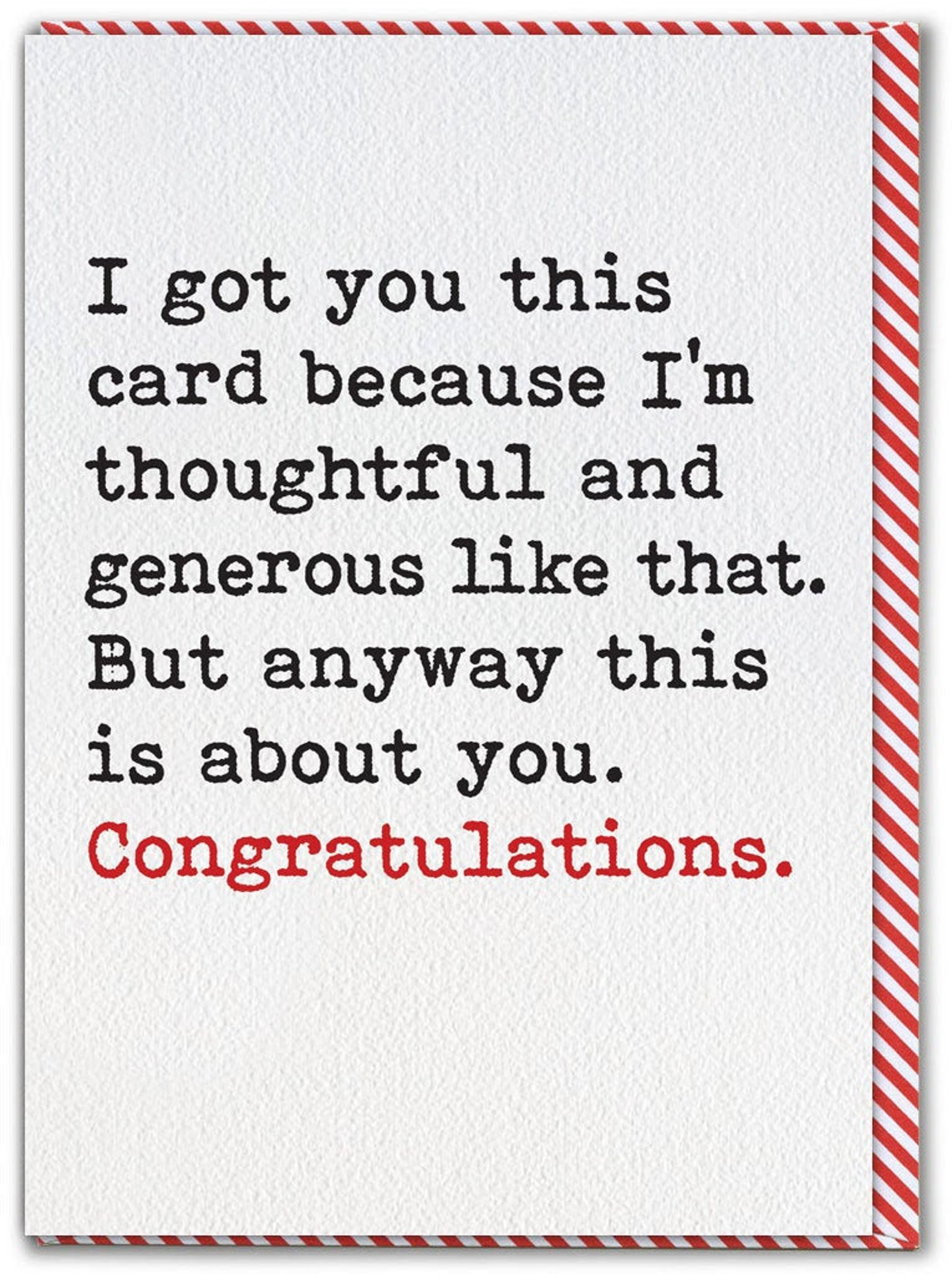 Funny Congratulations Card For Him Her Humorous Cheeky   Etsy