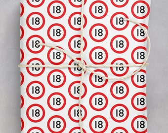 18th Birthday Gift Wrap | For Boy Girl | Friend Mate Bestie | Son Daughter | Niece Nephew | Wrapping Paper For 18th Birthday