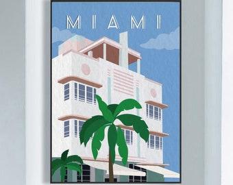 Miami Wall Art Etsy