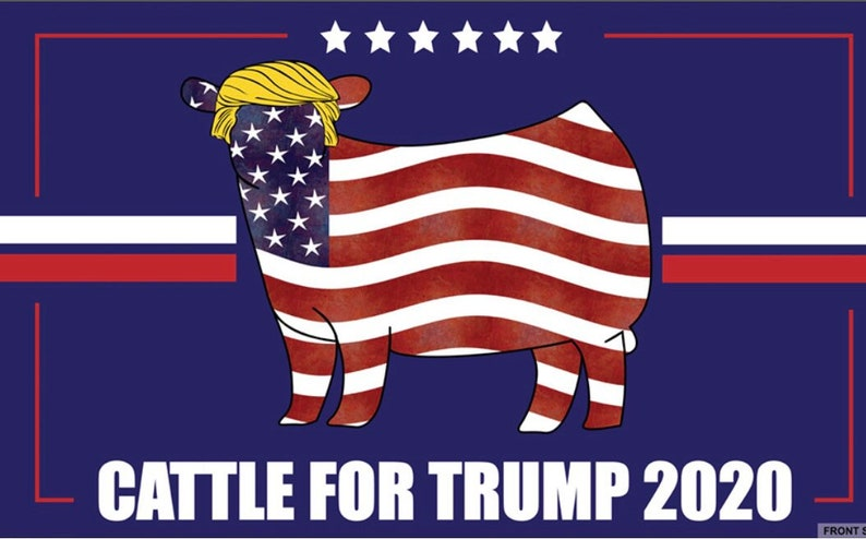 Cattle for Trump Flag image 0
