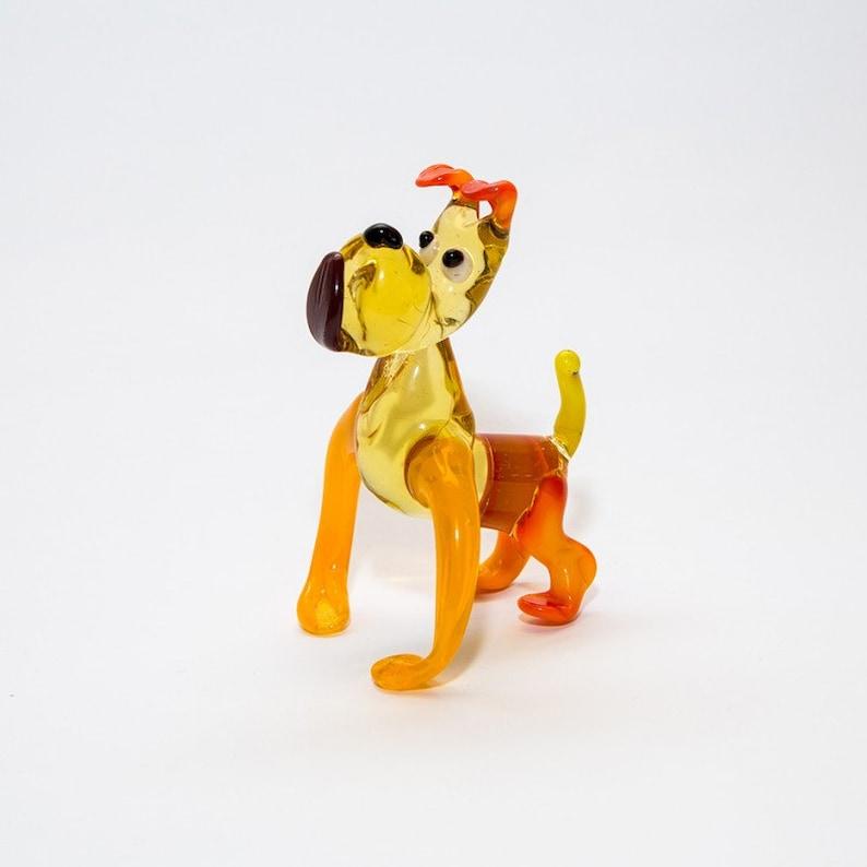 Sculpture Made Of Glass Dog Animals Glass Art Glass Handmade Blown Glass Figurine Art  Blown Glass