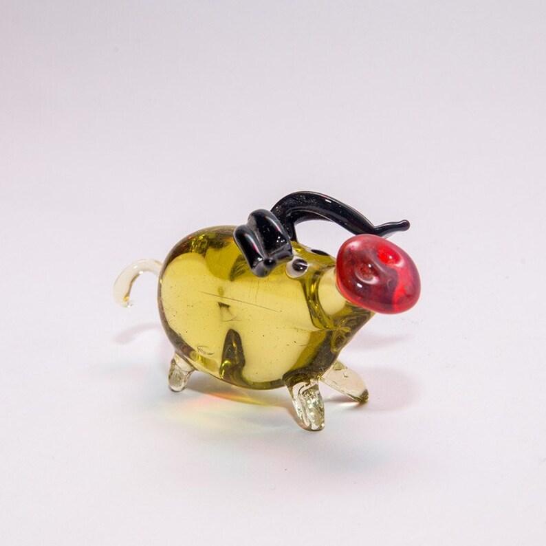 Art Glass Pig Animals Glass Handmade Blown Glass Figurine Art  Blown Glass Sculpture Made Of Glass