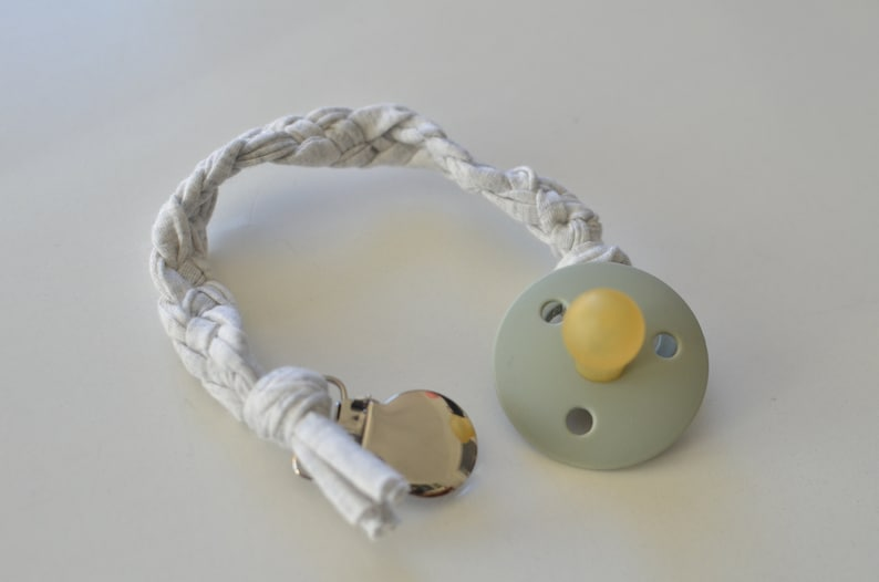 Shades of grey pacifier clip