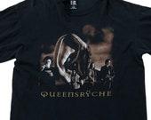 Queensryche World Tour Vintage 1997 Giant 90s Anvil Silent Lucidity Rock Metal Concert Band Cotton Black T-Shirt