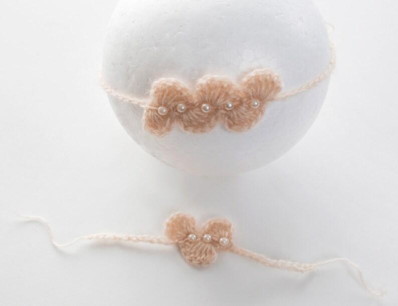 crochet newborn hairband Hairband set