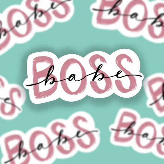 Boss Babe Sticker  Water bottle or Computer Decal Accessory