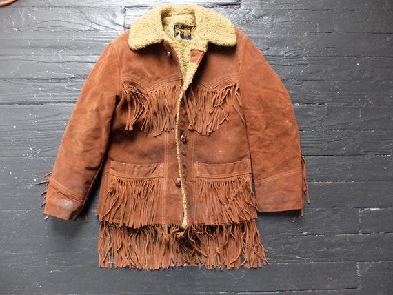 Suede Shearling Fringe Jacket