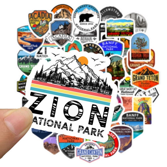 50 PCS National Park Cartoon Stickers for Phone Laptop Luggage
