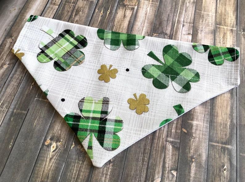 Patrick\u2019s Day Bandanna Dog and cat accessories pet scarf pet bandannas Pet St