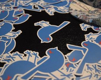 Stevens Pass Dead Bluebird Sticker