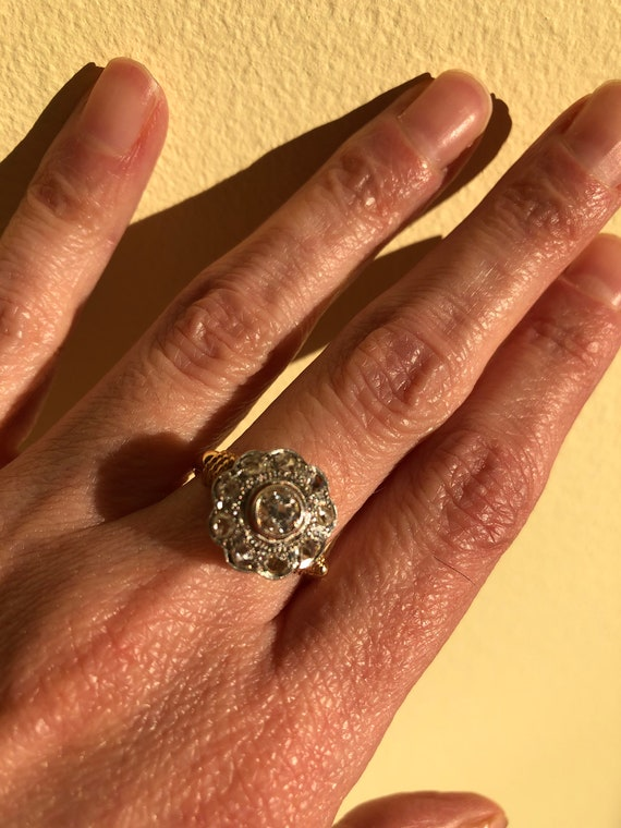Antique Victorian Engagement Ring - image 1