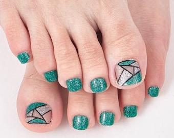 Jade - 22pc Toenail Wraps - Nails Like Royals