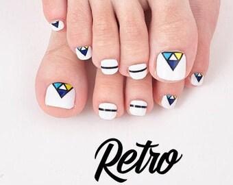 Retro - 22pc Toenail Wraps - Nails Like Royals