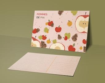 POSTCARD 03 : Apple & Pine cones