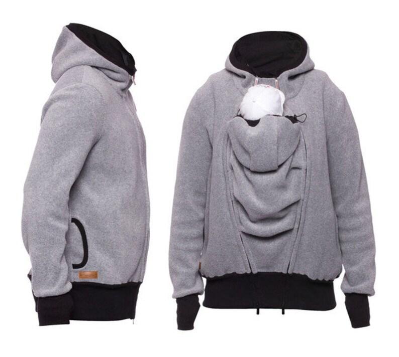 LUMI Two-Way Fleece Men/'s Kangaroo Jacket