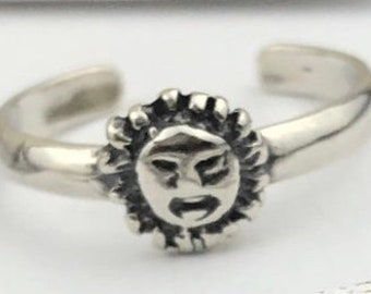 Sun Toe Ring • 925 sterling silver toe ring • Adjustable Toe Ring • Solid Toe Ring •Little Finger Ring • Pinky Ring • Knuckle Ring • gift