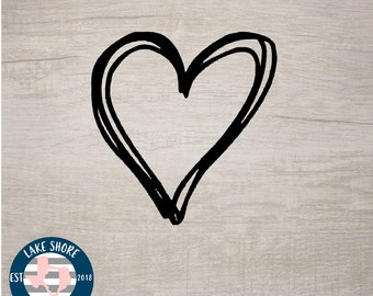 Gifts For Her Heart Decals Simple Heart Decal Cute Car Decal Cute Heart Sticker Cute Heart Decal Cute Decals Heart Stickers